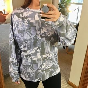 URBAN OUTFITTERS ANGEL GRAPHIC RENAISSANCE SHIRT